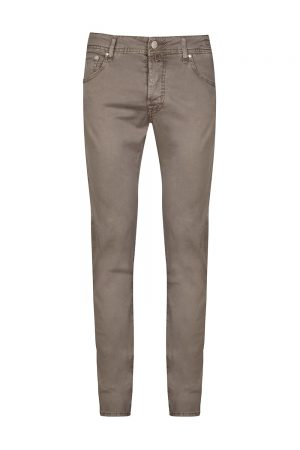 Jacob Cohën Men's J622 Comfort Mid-rise Jeans Brown