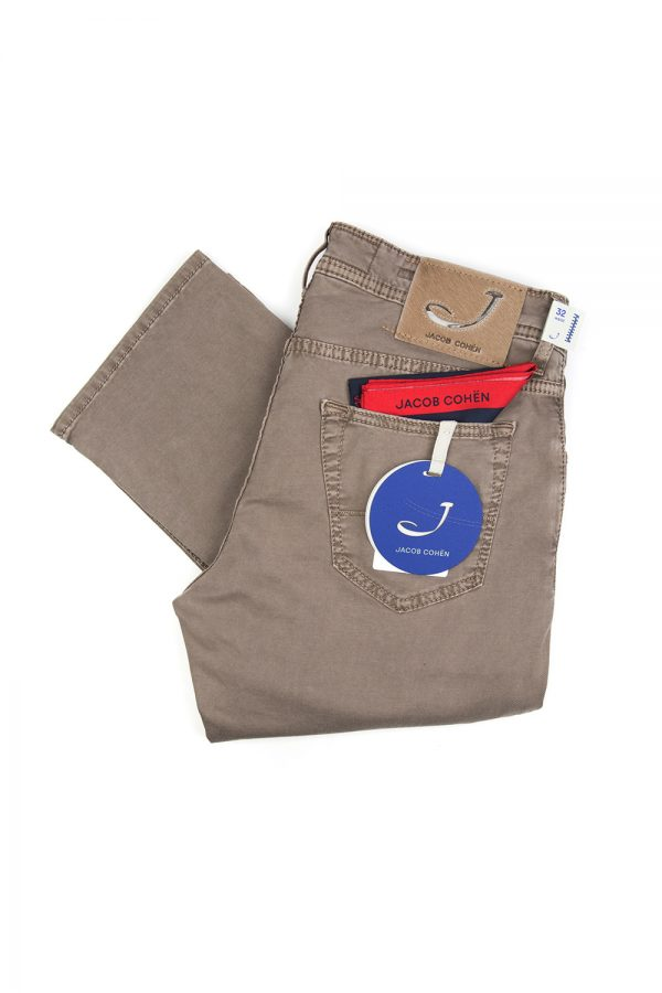 Jacob Cohën Men's J622 Comfort Mid-rise Jeans Brown