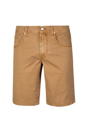Jacob Cohën Men's Stretch Cotton Chino Shorts Brown