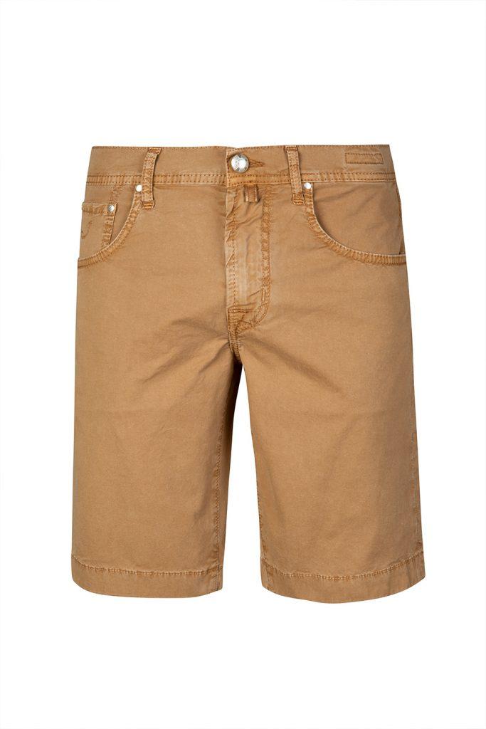 Jacob Cohën Men's Stretch Cotton Chino Shorts Brown