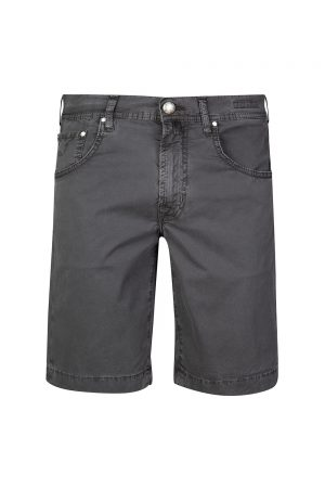Jacob Cohën Men's Cotton-blend Shorts Dark Grey