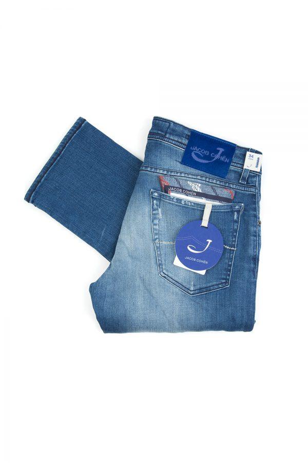 Jacob Cohën J622 Men's Distressed Slim-leg Jeans Blue