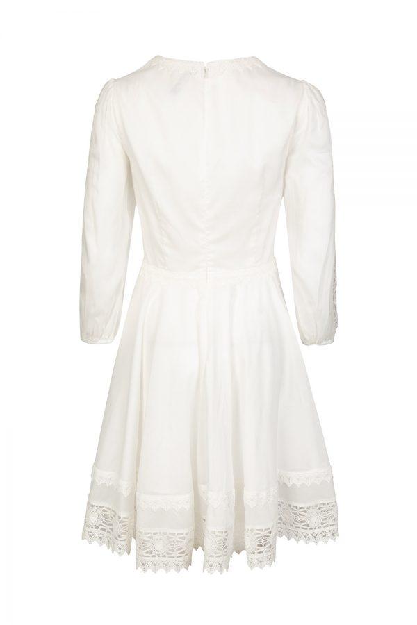 Blumarine Women's Lace Trim Flare Dress White