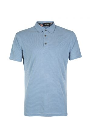 Sand Men's Striped Polo Shirt Blue