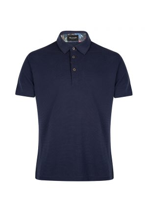 Sand Men's 3-button Polo Shirt Navy
