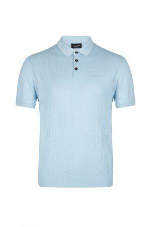 Sand Men's Contrast Panel Polo Shirt Blue