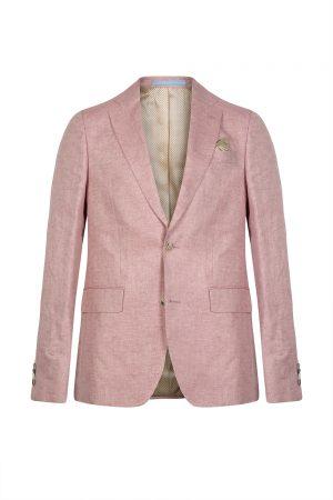 Sand Star Napoli Men's Linen Blazer Jacket Pink