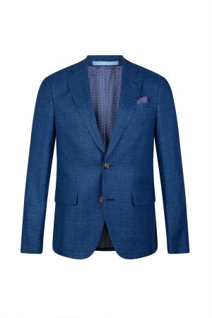 Sand Star Napoli Men's Linen Blazer Jacket Blue