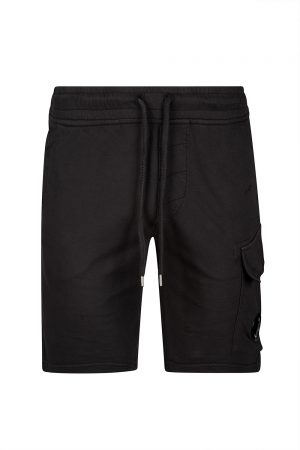 C.P. Company Men's Cotton Sweat Shorts Black