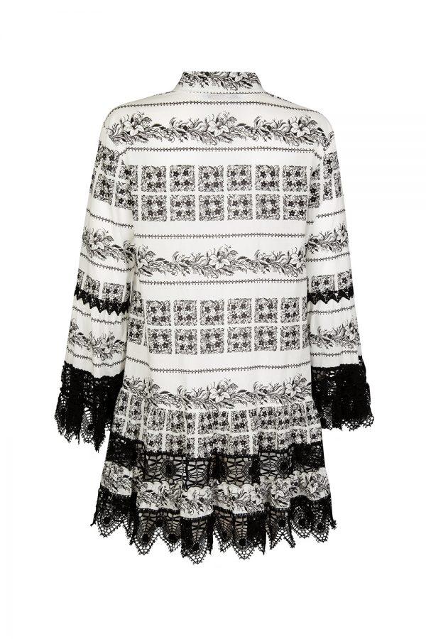 Blumarine Women's Floral Print Mini Dress Black