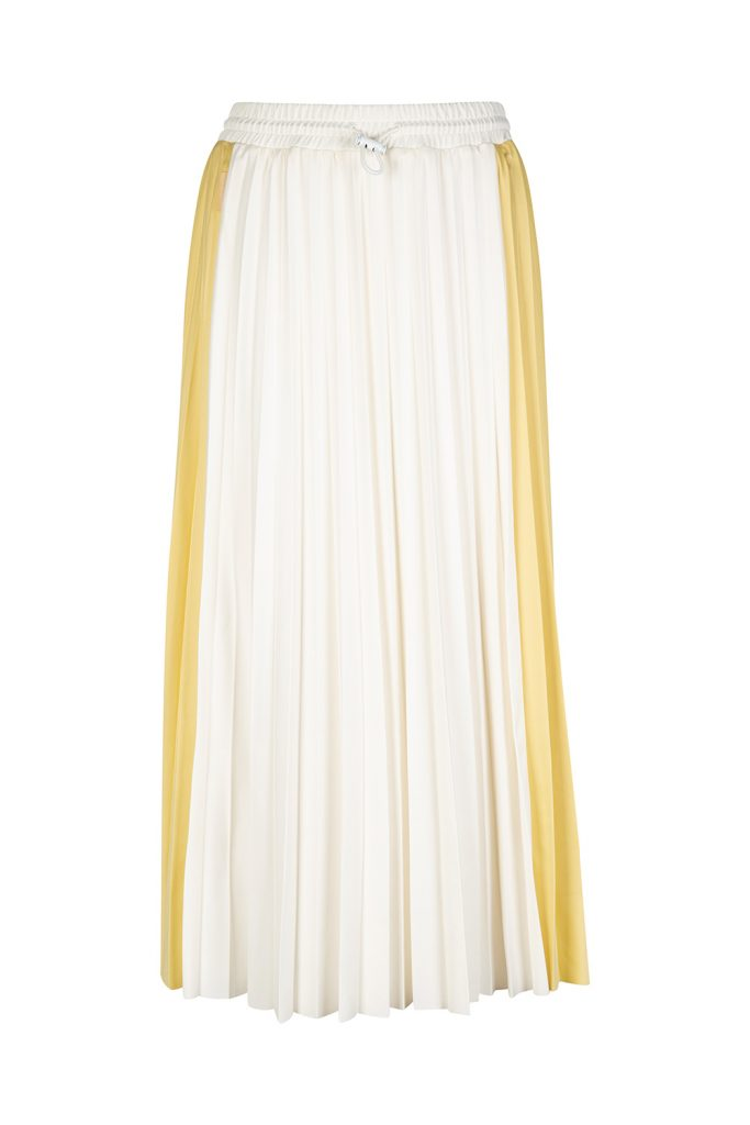 Moncler Women's Pleated Maxi Skirt Yellow