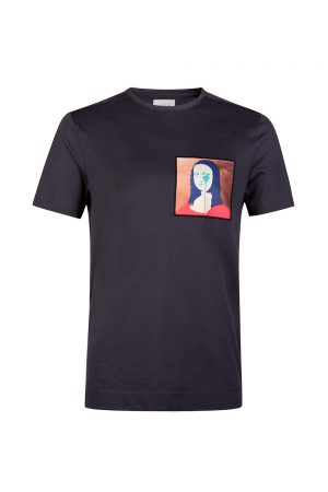 Limitato Pure Evil Lisa Men's T-shirt Navy