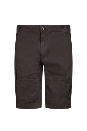 C.P. Company Men's Denim Cargo Shorts Black