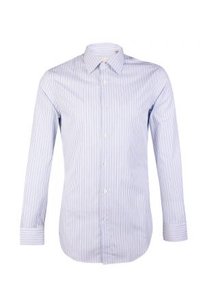 Pal Zileri Men's Thin Striped Shirt Blue