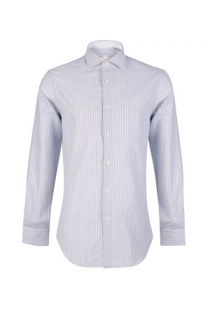 Pal Zileri Men's 2-tone Stripe Cotton Shirt Grey