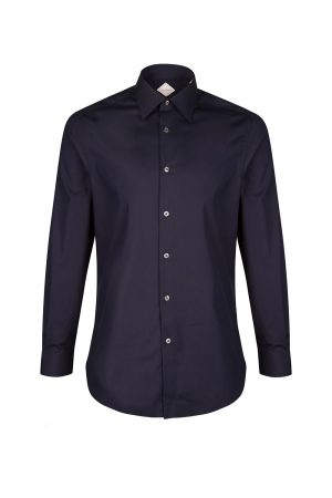 Pal Zileri Men's Stretch Cotton Shirt Navy