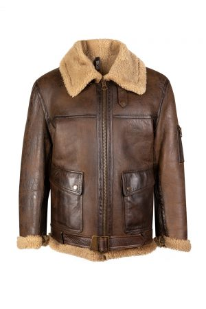 Matchless M47 Tank Men's Shearling Jacket Brown