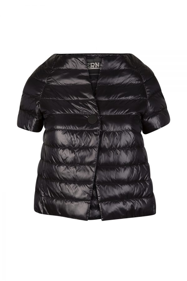 Herno Women's Short-sleeved Puffer Jacket Black