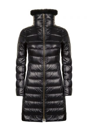 Herno Women's Elisa Fur Collar Down Coat Black
