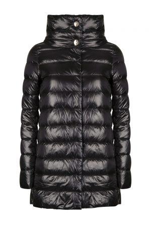 Herno Women's Amelia Funnel Neck Shell Coat Black