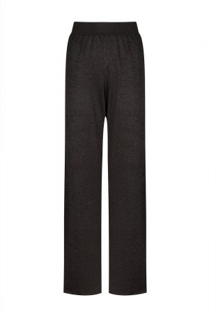 Missoni Women's Lurex-knitted Wide-leg Trousers Black