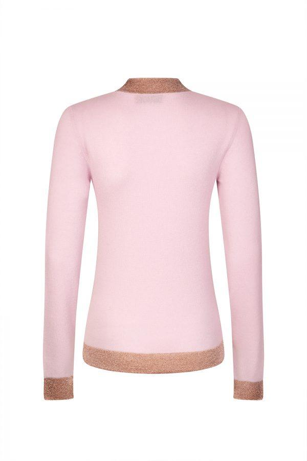 Missoni Women's Contrast Metallic Band Sweater Pink