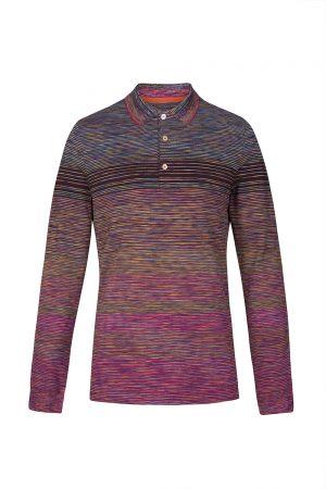 Missoni Men's Space-dye Cotton Polo Shirt Red