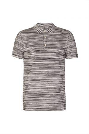 Missoni Men's Waffle-knit Cotton Polo Shirt Black