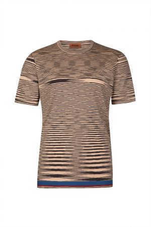Missoni Men's Space-dyed Cotton Jersey Top Brown