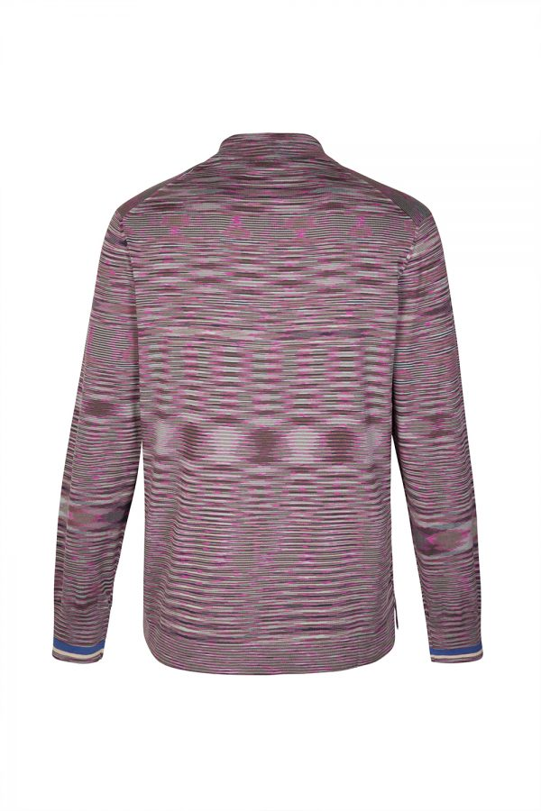 Missoni Men's Space-dye Long-sleeved Polo Shirt Pink