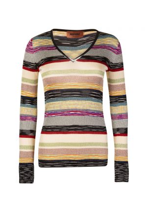 Missoni Women's Mixed Stripe V-neck Sweater Multicoloured