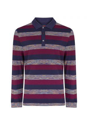 Missoni Men's Rugby Polo Shirt Burgundy