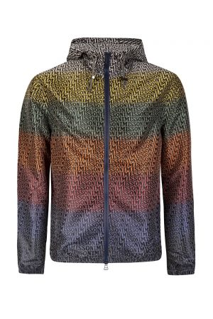 Missoni Men's Logo Print Windbreaker Jacket Multicoloured