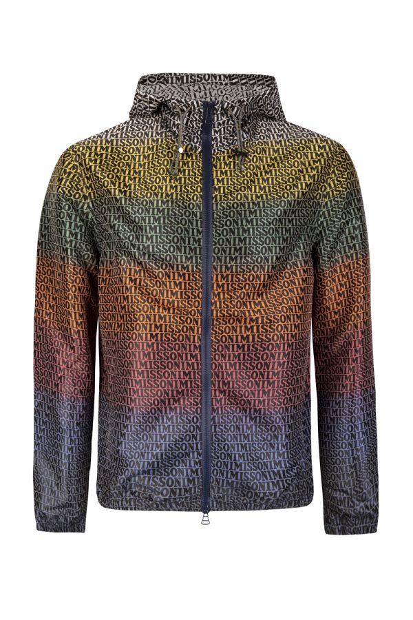 Missoni Men's Logo Print Windbreaker Jacket Multicoloured