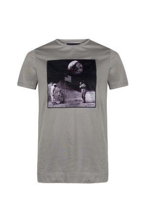 Limitato Man on the Moon Men's T-shirt Grey