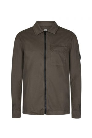 C.P. Company Men's Zip Up Overshirt Khaki
