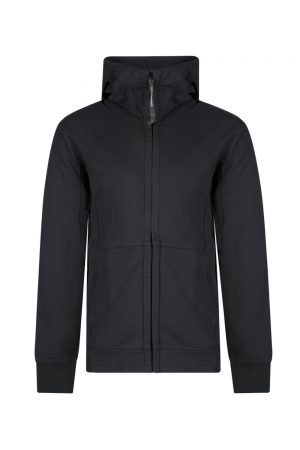 C.P. Company Men's Goggle Lens Zip Up Hoodie Black