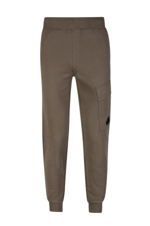 C.P. Company Men's Diagonal Fleece Track Pants Khaki